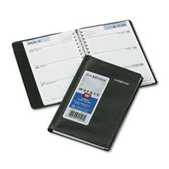 DayMinder Recycled Weekly Appointment Book, 3-3/4 x 6, Black, 2013