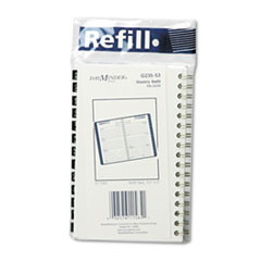 DayMinder Recycled Weekly Appointment Book Refill, 3-3/4 x 6, 2013