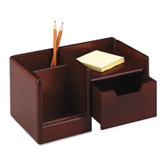Rolodex Wood Tones Handheld Electronics Organizer, 10 x 6 x 5, Mahogany