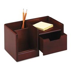 Rolodex Wood Tones Handheld Electronics Organizer, 10 x 6 x 5, Mahogany