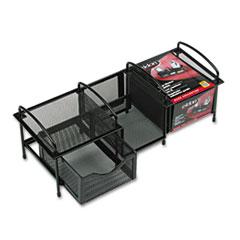 Rolodex Large Handheld Electronics Organizer, Mesh, 15 1/4 x 5 3/4 x 5 1/2, Black