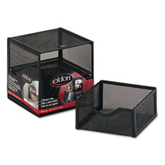 Rolodex Organization Two-Drawer Cube, Wire Mesh, Storage, 6 x 6 x 6, Black
