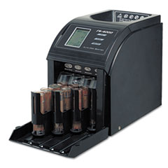 Royal Sovereign Fast Sort FS-4000 Digital Coin Sorter, Pennies Through Quarters, Black/Silver