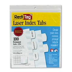 RTG 33117 Redi-Tag Laser and Inkjet Printable Index Tabs RTG33117