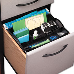 Rubbermaid Hanging Desk Drawer Organizer, Plastic, Black