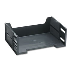 Rubbermaid Stackable High-Capacity Side Load Letter Tray, Polystyrene, Ebony