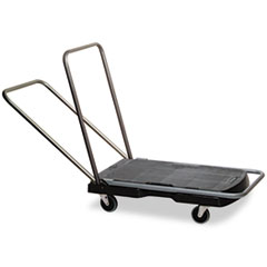 Rubbermaid Commercial Utility-Duty Home/Office Cart, 250 lb Capacity, 20-7/8 x 31-3/4 Platform, BK