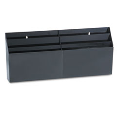 Rubbermaid Optimizers Six-Pocket Organizer, 24 5/8 x 2 3/4 x 11 1/2, Black