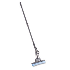 Rubbermaid Commercial PVA Sponge Mop w/Wringer Lever, 12w, Blue Head