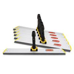 Rubbermaid Commercial HYGEN HYGEN Quick Connect S-S Frame, Squeegee, 24w x 4 1/2d, Aluminum, Yellow
