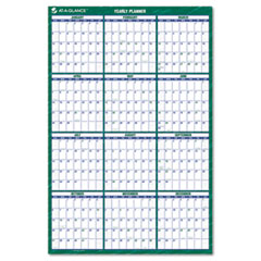 AT-A-GLANCE Recycled Vertical Erasable Wall Planner, Yearly Calendar, 24