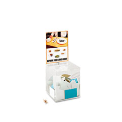Safco Acrylic Collection Box, 9 1/4 x 9 1/4 x 21, Clear