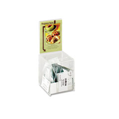 Safco Collection Box with Graphics Display, 5 1/2 x 5 1/2 x 13, Clear