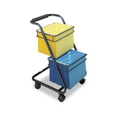 SAF 5223BL Safco Jazz Two-Tier File Cart SAF5223BL