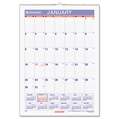 AT-A-GLANCE Recycled Erasable Monthly Wall Calendar, 12