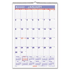 AT-A-GLANCE Recycled Monthly Erasable Wall Calendar, 15 1/2