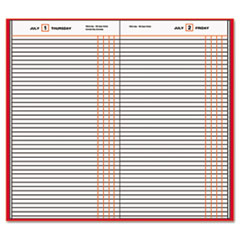 AT-A-GLANCE Standard Diary Recycled Daily Journal, Red, 7 11/16