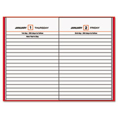 AT-A-GLANCE Standard Diary Recycled Daily Reminder, Red, 4 3/16 x 6 1/2