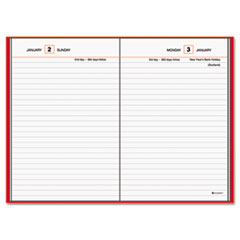 AT-A-GLANCE Standard Diary Recycled Daily Reminder, Red, 5