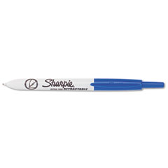 Sharpie Retractable Ultra Fine Tip Permanent Marker, Blue