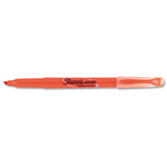 Sharpie Accent Pocket Style Highlighter, Chisel Tip, Fluorescent Orange, 1 Dozen