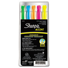 Sharpie Accent Pocket Style Highlighter, Chisel Tip, Assorted Colors, 5/Set
