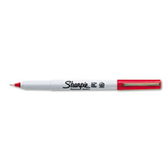 Sharpie Permanent Markers, Ultra Fine Point, Red, Dozen