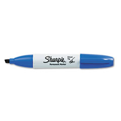 Sharpie Permanent Marker, 5.3mm Chisel Tip, Blue, Dozen