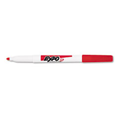 EXPO Low Odor Dry Erase Marker, Fine Point, Red, Dozen