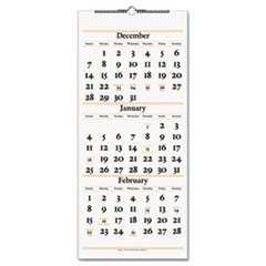 AT-A-GLANCE Recycled Three-Month Reference Wall Calendar, 12 1/4 x 27, 2012-2014