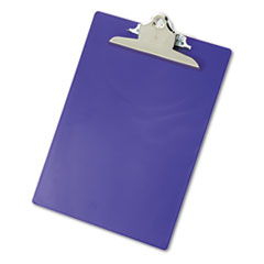 Plastic Antimicrobial Clipboard, 1&quot; Capacity, Holds 8-1/2w x 12h, Purple