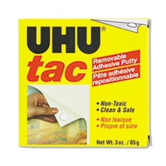 UHU Tac Adhesive Putty, Removable/Reusable, Nontoxic, 3 oz Each
