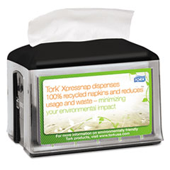 Tork Xpressnap Tabletop Napkin Dispenser, 5.8w x 7.8d x 6.2h, Black