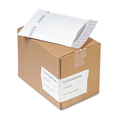 Jiffy TuffGard Self-Seal Cushioned Mailer, #0, 6 x 10, White, 25/Carton