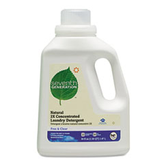 Natural 2X Concentrate Laundry Liquid, Free & Clear, 50 oz. Bottle