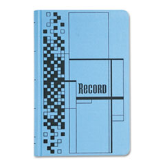 Adams Business Forms Record Ledger Book, Blue Cloth Cover, 500 7 1/2 x 12 Pages