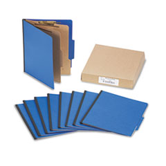 ACCO Presstex Colorlife Classification Folders, Letter, 6-Section, Dark Blue, 10/Box