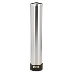 San Jamar Large Water Cup Dispenser w/Removable Cap, Wall Mounted, Stainless Steel