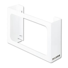 San Jamar White Enamel Disposable Glove Dispenser, Three-Box, 18w x 3 3/4d x 10h
