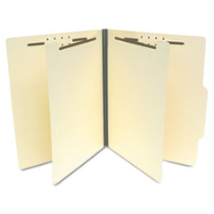 S J Paper Manila Economy Classification Folders, Letter, Six-Section, 25/Box