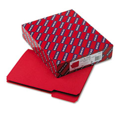 Smead Interior File Folders, 1/3 Cut Top Tab, Letter, Red, 100/Box