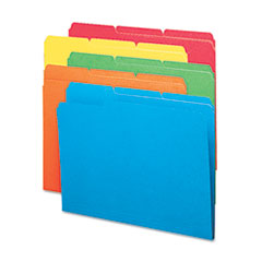 Smead File Folders, 1/3 Cut Top Tab, Letter, Bright Assorted Colors, 100/Box