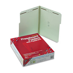 Smead Two Inch Expansion Fastener Folder, 1/3 Top Tab, Letter, Gray Green, 25/Box