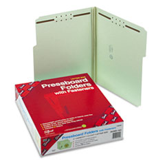 Smead Three Inch Expansion Fastener Folder, 1/3 Top Tab, Letter, Gray Green, 25/Box