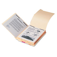 Smead Stackable End Tab Folder Dividers with Fastener, Letter, 1/2