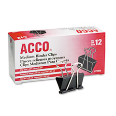 ACCO Medium Binder Clips, Steel Wire, 5/8