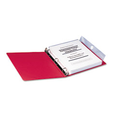 Smead Poly Ring Binder Pockets, 9 x 11-1/2, Clear, 3/Pack