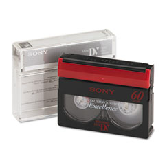 Sony Premium Grade DVC Camcorder Videotape Cassette, 60 Minutes