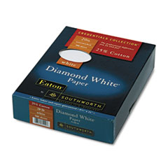 Southworth 25% Cotton Diamond White Business Paper, 20 lbs., 8-1/2 x 11, 500/Box