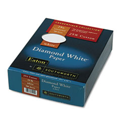 Southworth 25% Cotton Diamond White Business Paper, 24 lbs., 8-1/2 x 11, 500/Box
